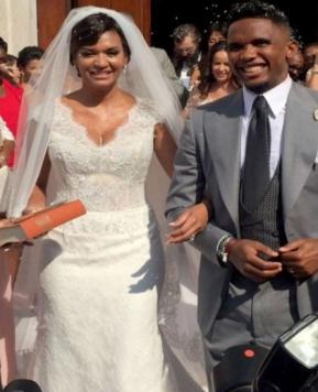 Nozze Eto'o e Georgette, alcuni scatti dell'abito da sposa