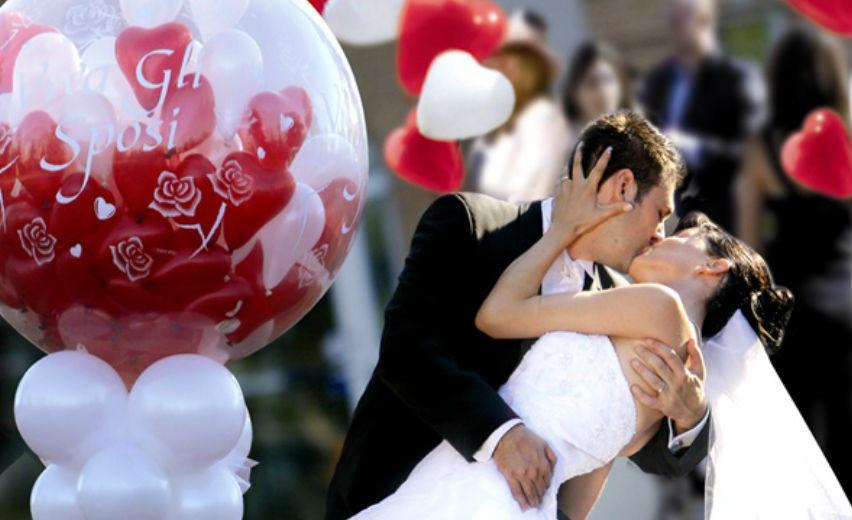 Addobbi con palloncini spazio alla fantasia sposi magazine for Addobbi per promessa di matrimonio