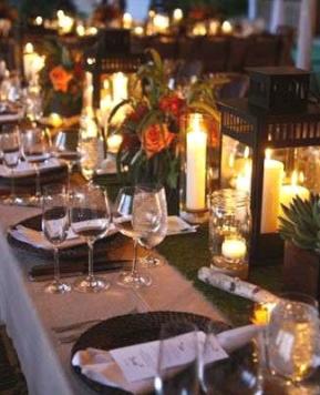 Idee luminose per le vostre nozze di sera