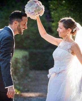 Nozze in giardino: il sì di Sara e Aron firmato Giovanna Damonte