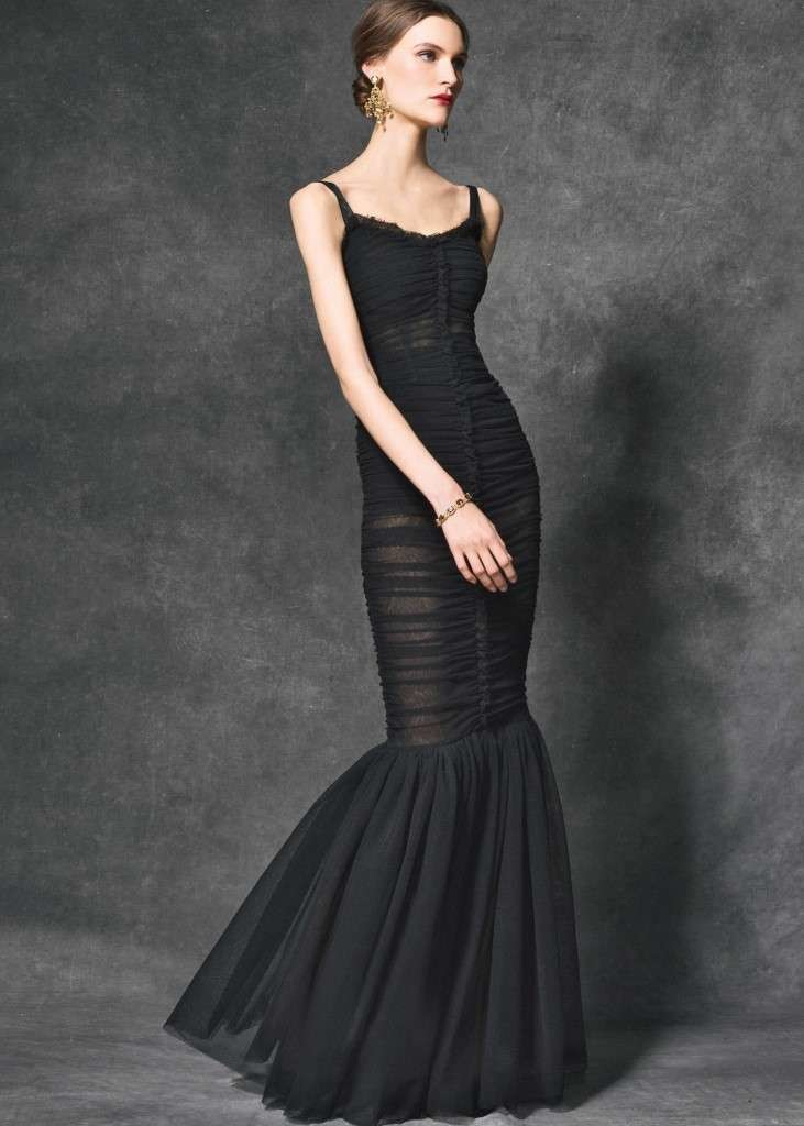Abito da sera nero a sirena drappeggiato Dolce  u0026 Gabbana. Abito ... 46cfad01175