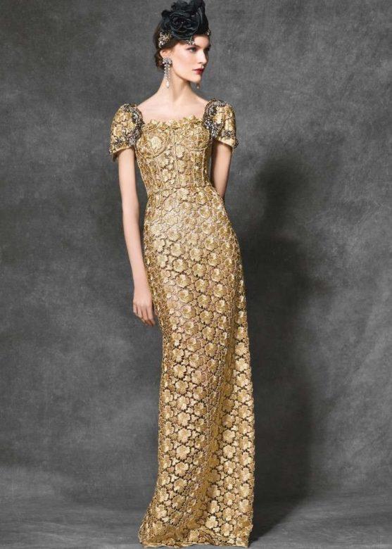 Abito da sera oro scintillante - Dolce & Gabbana