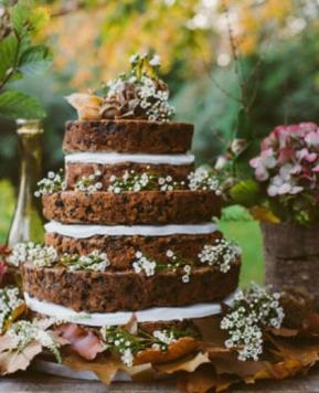 Naked cake, l'elegante «nudità» della torta nuziale