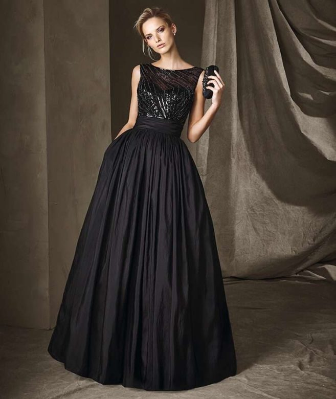 maxi-dress-nero-pronovias