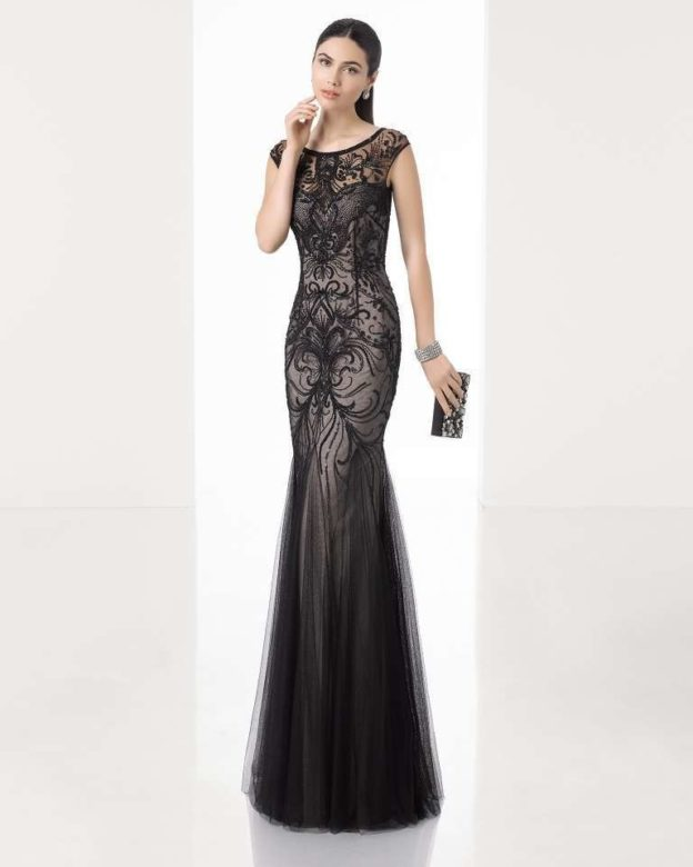 vestito-nero-a-sirena-rosa-clara