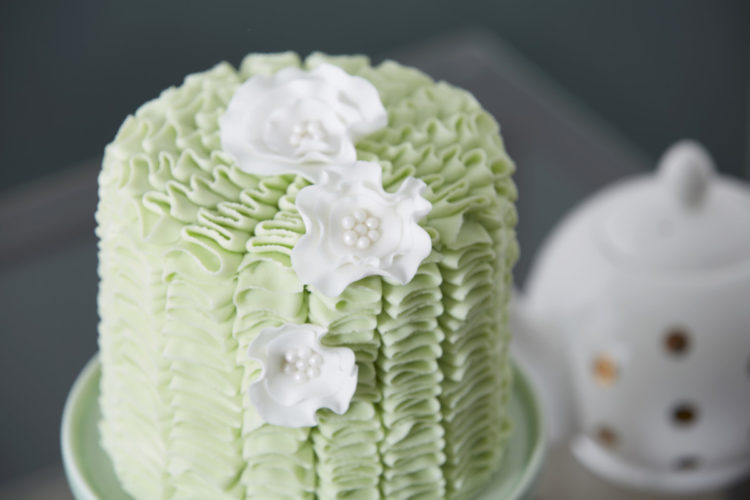 Fancy Cake Served at Tea Time