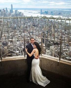 Il sì a tema New York per Meriann e Raul: favola metropolitana
