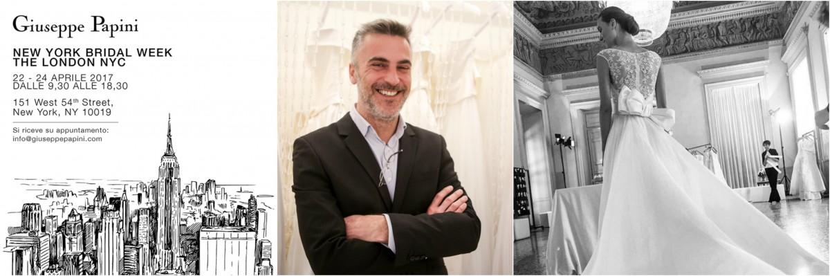Lo stilista Giuseppe Papini racconta alcuni dettagli della sua collezione di abiti da sposa 2018