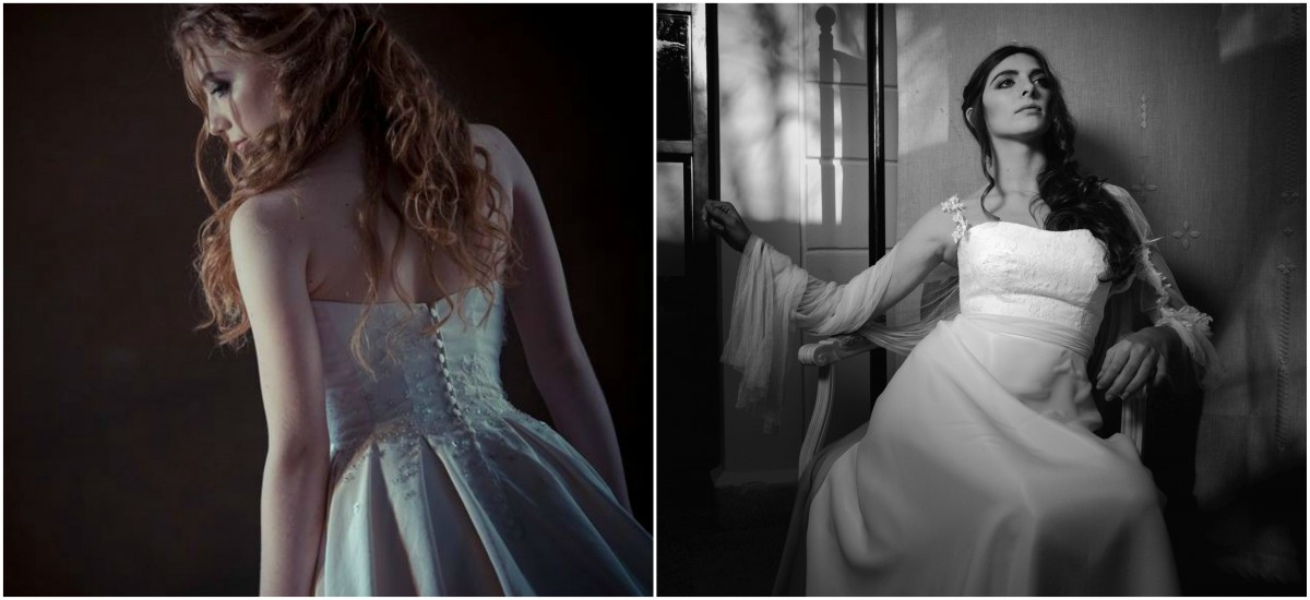 Modificare l'abito da sposa della mamma si può. Abito in seta italiana del 1960, nelle tonalità dell'avorio rosato della collezione bridal 2017 di Rosa Alessi.