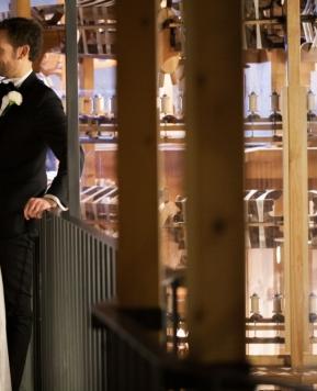 """Sposarsi in un museo, il """"Sì"""" di Nadia e Ivano lì dove la seta prende forma"""