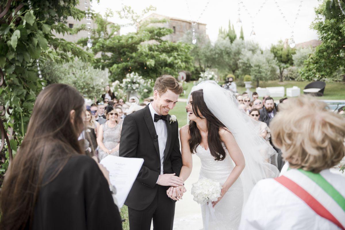 Il matrimonio in un castello di Natalie e Terry