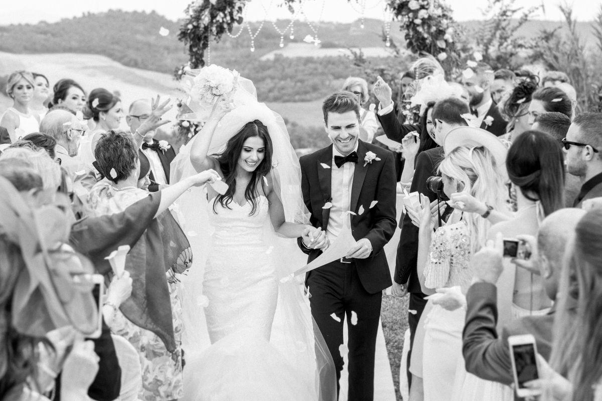 """Il matrimonio in un castello di Terry e Natalie, dalla Scozia per dirsi """"sì"""" in Umbria"""