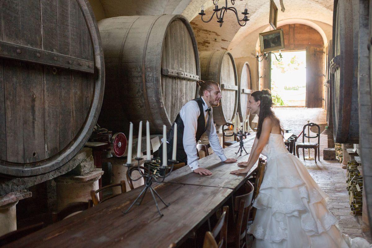 Per il loro matrimonio in stile medievale, Jessica e Lorenzo hanno scelto un castello come location wedding