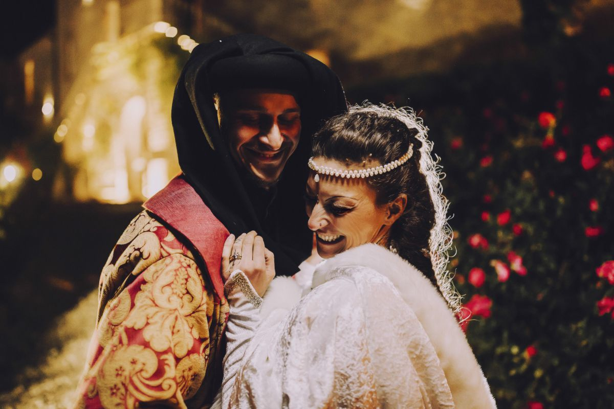 Il matrimonio medievale di Alessandro e Roberta al Castello di Montignano