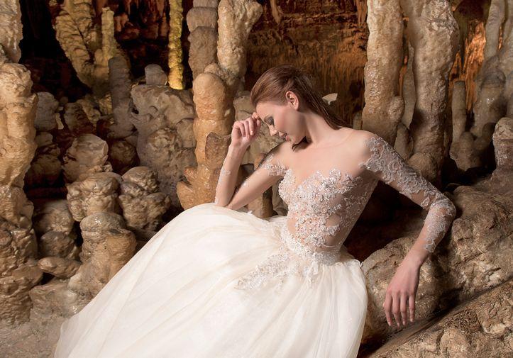 """Modello """"Greta"""" della nuova collezione di abiti da sposa Anya 2018"""
