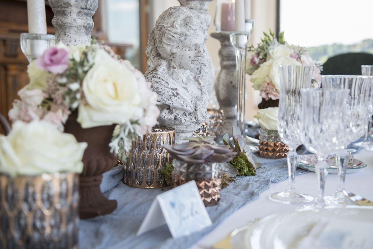 Imparare a realizzare la mise en place. Lo shooting realizzato al The Italian Wedding Workshop