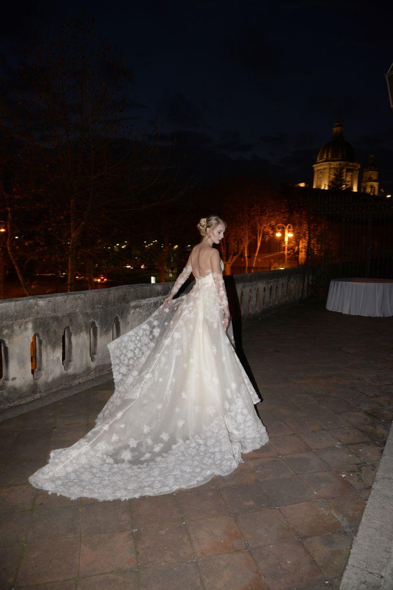 Un altro degli abiti che hanno sfilato durante il Dreams Day organizzato da Polisano Spose