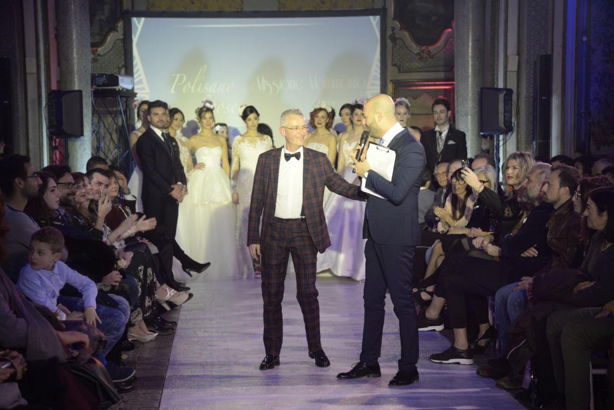 Alfio Polisano, titolare di Polisano Spose, in uno dei momenti della serata. Foto di Salvatore Siracusano