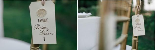 I tag segnaposto personalizzati per le nozze di Salvo e Maria Pia organizzate da Fiorelli Wedding