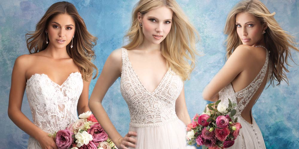 Allure Bridals, affascinanti contrasti per la sposa 2019