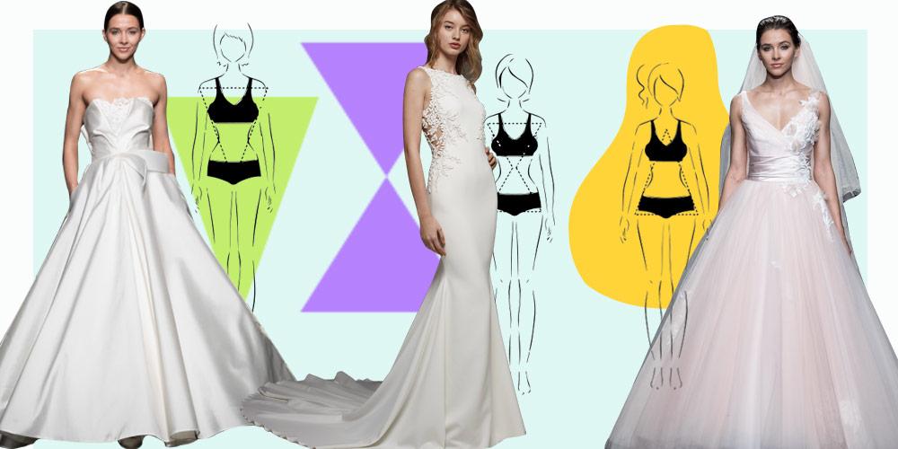 Abito da sposa in base al fisico  i modelli per le 5 tipologie del corpo  femminile e8e9ffd3559