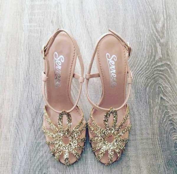 migliori offerte su brillante nella lucentezza a disposizione Serrese Sposa, scarpe glitterate e scintillanti per una ...