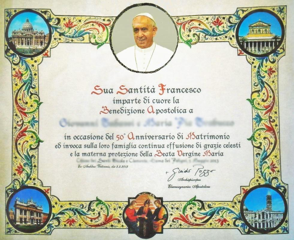 Anniversario Di Matrimonio Benedizione.Benedizione Del Papa Ecco Come Ottenerla Per Il Vostro Matrimonio