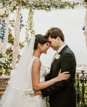 Silvana Di Niso firma le nozze di Stefania e Alfonso fra Campania e Liguria