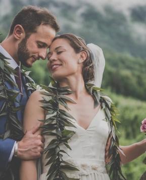 Barbara Poma e le nozze in stile hawaiano e giapponese di Jacqueline e Domenico