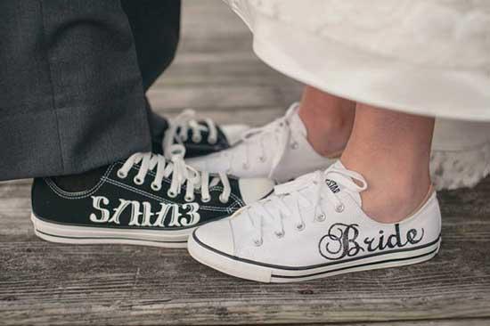 Scarpe Ginnastica Sposa.Scarpe Da Sposa Alternative Il Trend Che Fa La Differenza