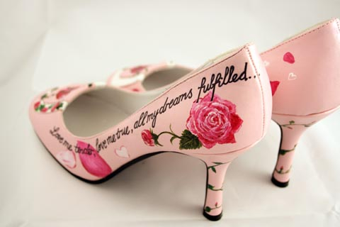 Scarpe sposa decorate