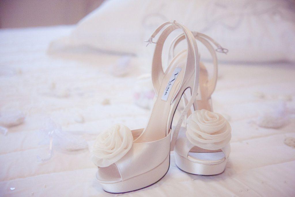 scarpe da sposa con plateau