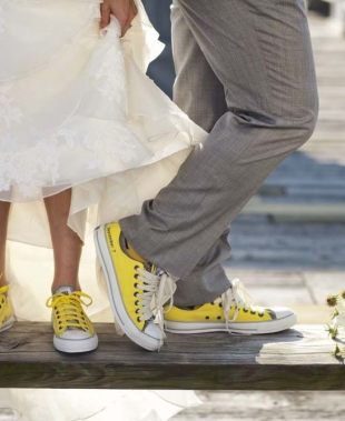 Scarpe da sposa alternative, il trend che fa la differenza
