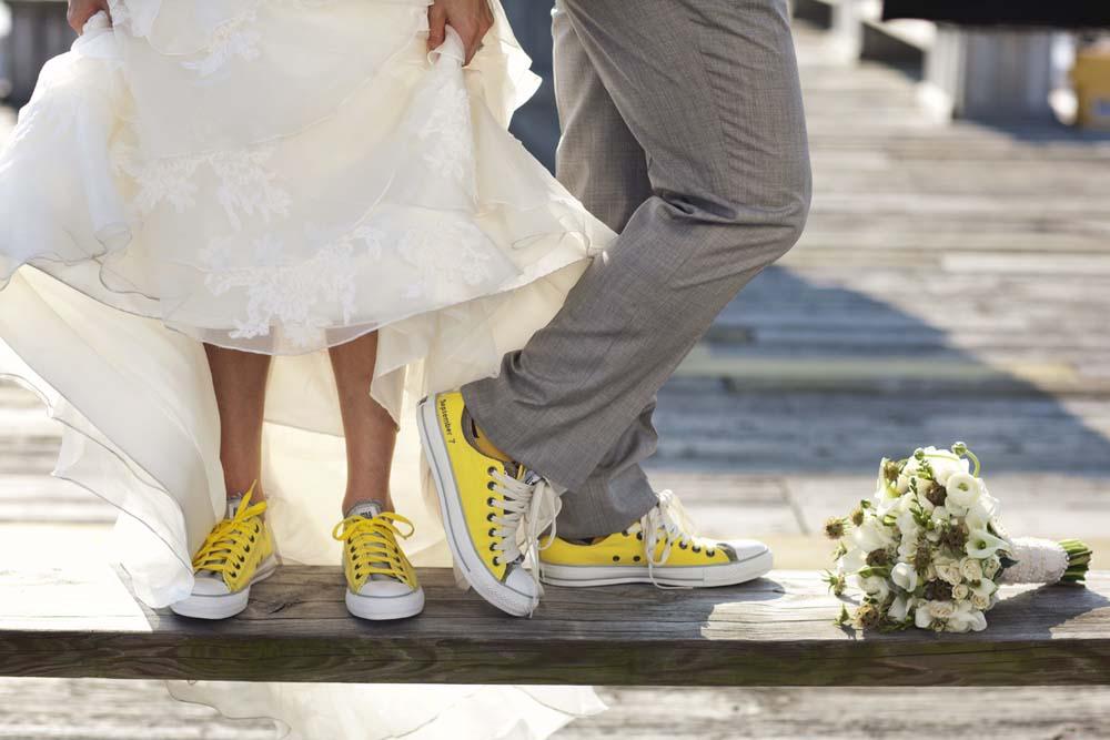 Sposa con le sneakers