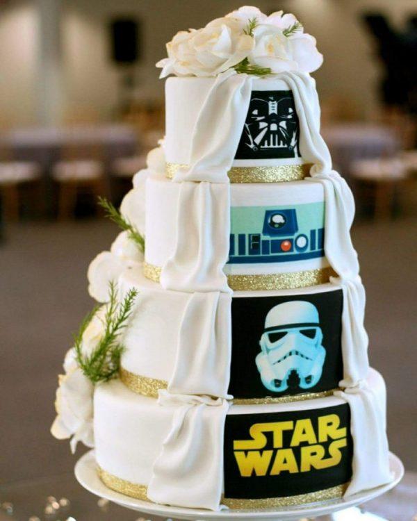 Torta matrimonio Star Wars