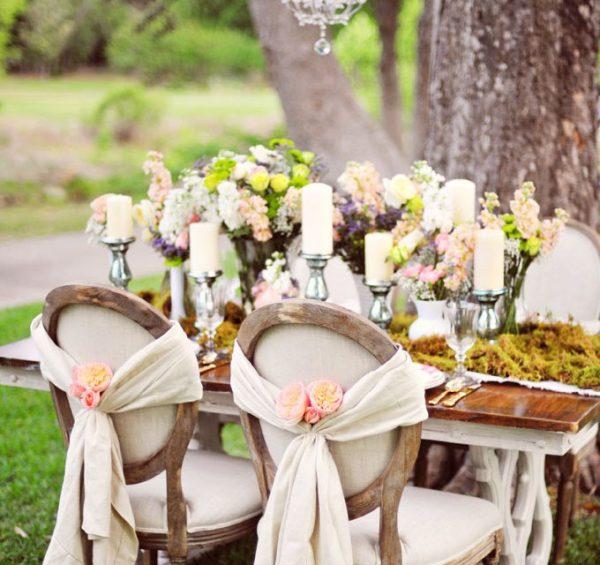 Candele tavolo sposi