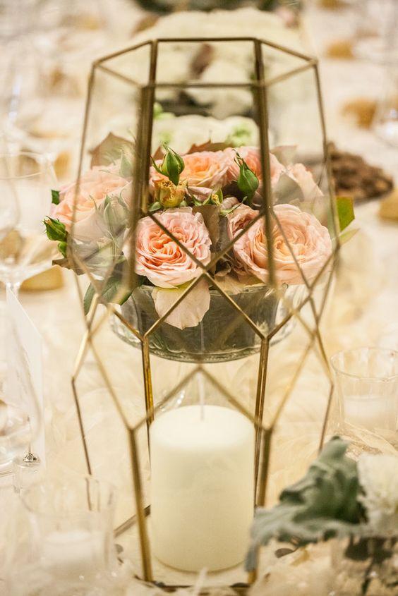Fiori in vaso tavolo sposi