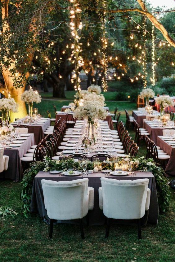 Decorazioni luminose tavolo sposi