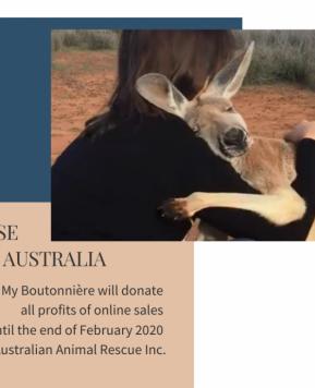My Boutonnière per l'Australia, una campagna di sostegno per l'emergenza