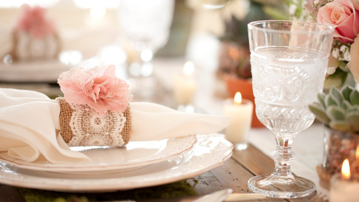 Tavolo sposi stile chabby
