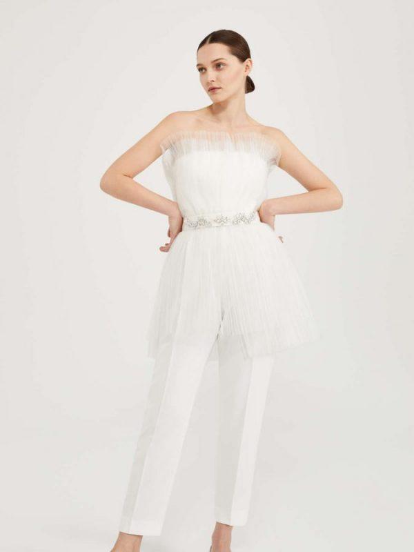 abiti da sposa con pantaloni