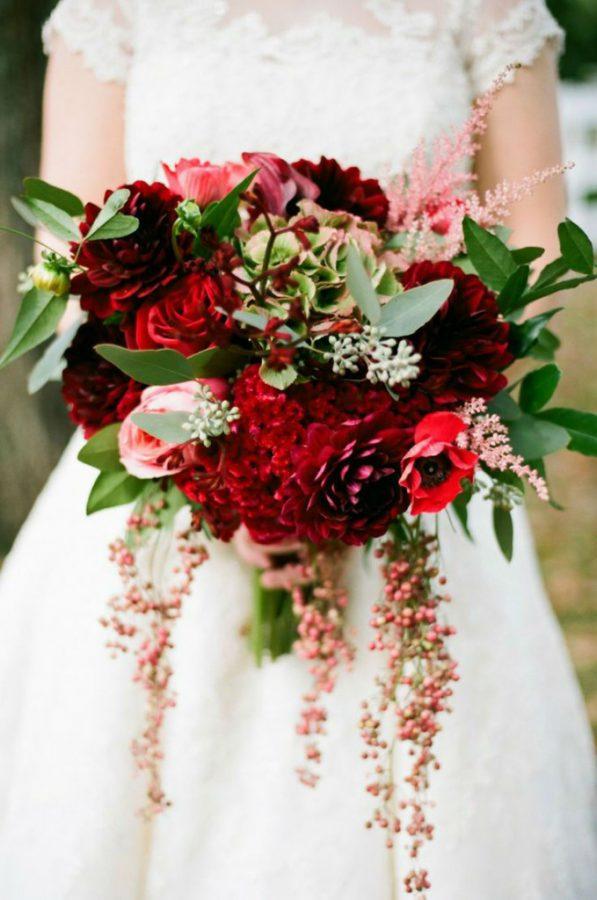 Bouquet invernale rosso