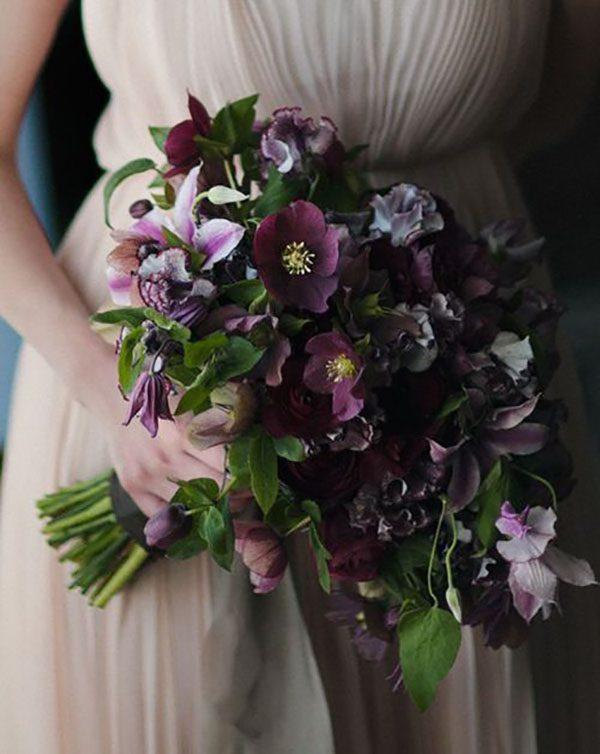 Bouquet invernale viola