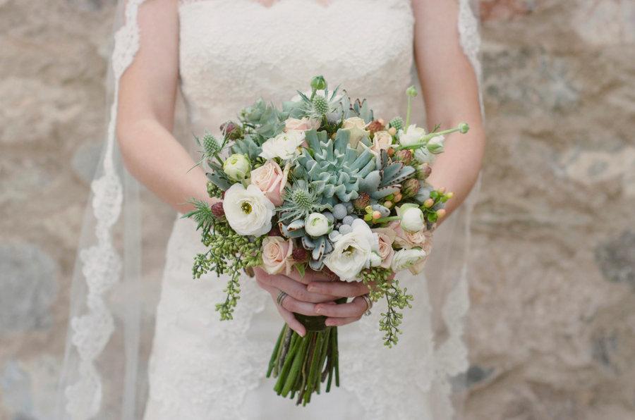 Bouquet sposa piante grasse