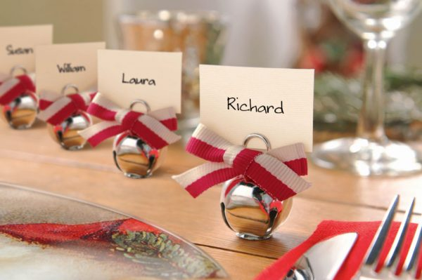 Segnaposti matrimonio natalizi