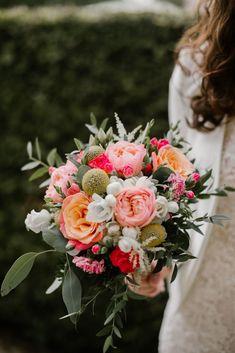 Bouquet sposa colori intensi