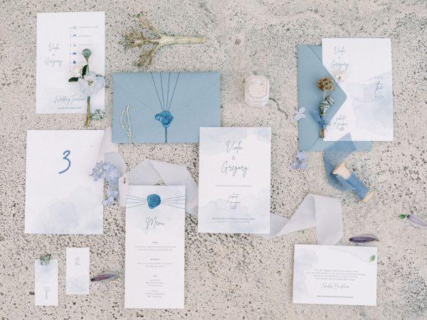 In questa foto la stationery completa di un matrimonio organizzato dalla Wedding Planner Angela Bartolomeo
