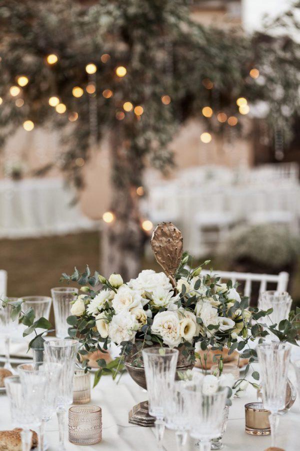 In questa foto una mise en place curata dalla Wedding Planner Antonella Candido