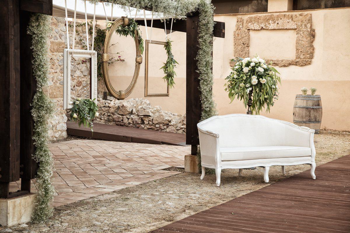 In questa foto un dettaglio dell'allestimento per un matrimonio organizzato da Antonella Candido Wedding Planner
