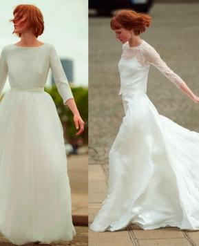 Nuovi abiti e accessori sposa Max Mara Bridal, romanticismo moderno